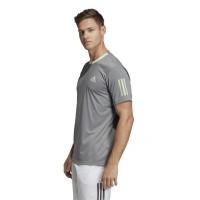 Camiseta Adidas Club 3 Stripes Gris Verde - Barata Oferta Outlet