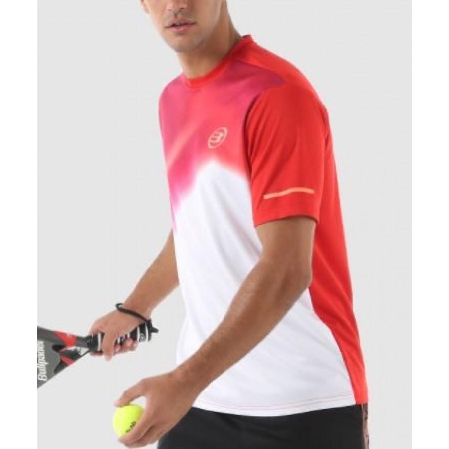 Camiseta Algafe Rojo Bullpadel - Barata Oferta Outlet