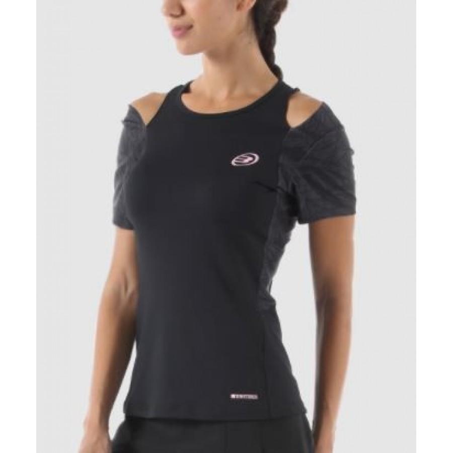 Camiseta Arguala Negro Bullpadel - Barata Oferta Outlet