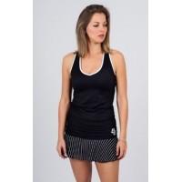 Camiseta Bb Ribete Tirantes Negra - Barata Oferta Outlet