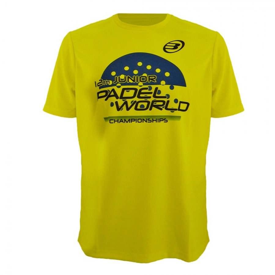 Camiseta Bullpadel Mundial Menores Amarillo Fluor Junior - Barata Oferta Outlet