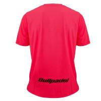 Camiseta Bullpadel Mundial Menores Rosa Fluor Junior - Barata Oferta Outlet