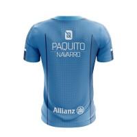 Camiseta Bullpadel Paquito Navarro Joyce Azul Fluor 2019 II - Barata Oferta Outlet