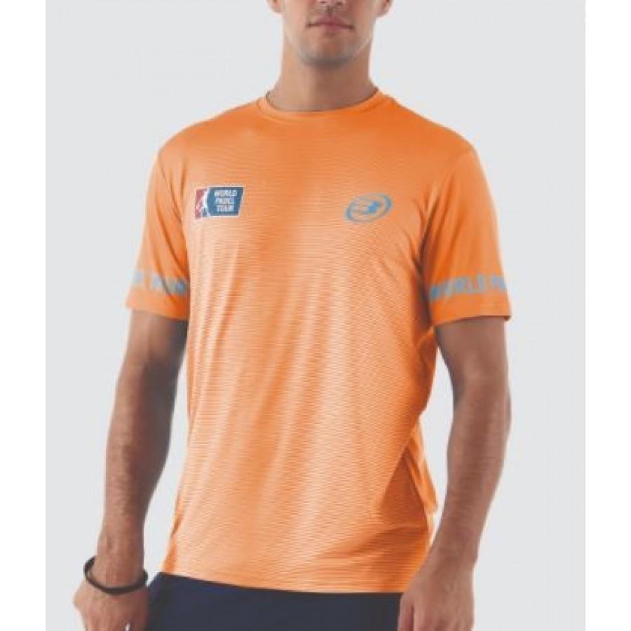 Camiseta Ceboli Naranja Fluor Bullpadel - Barata Oferta Outlet