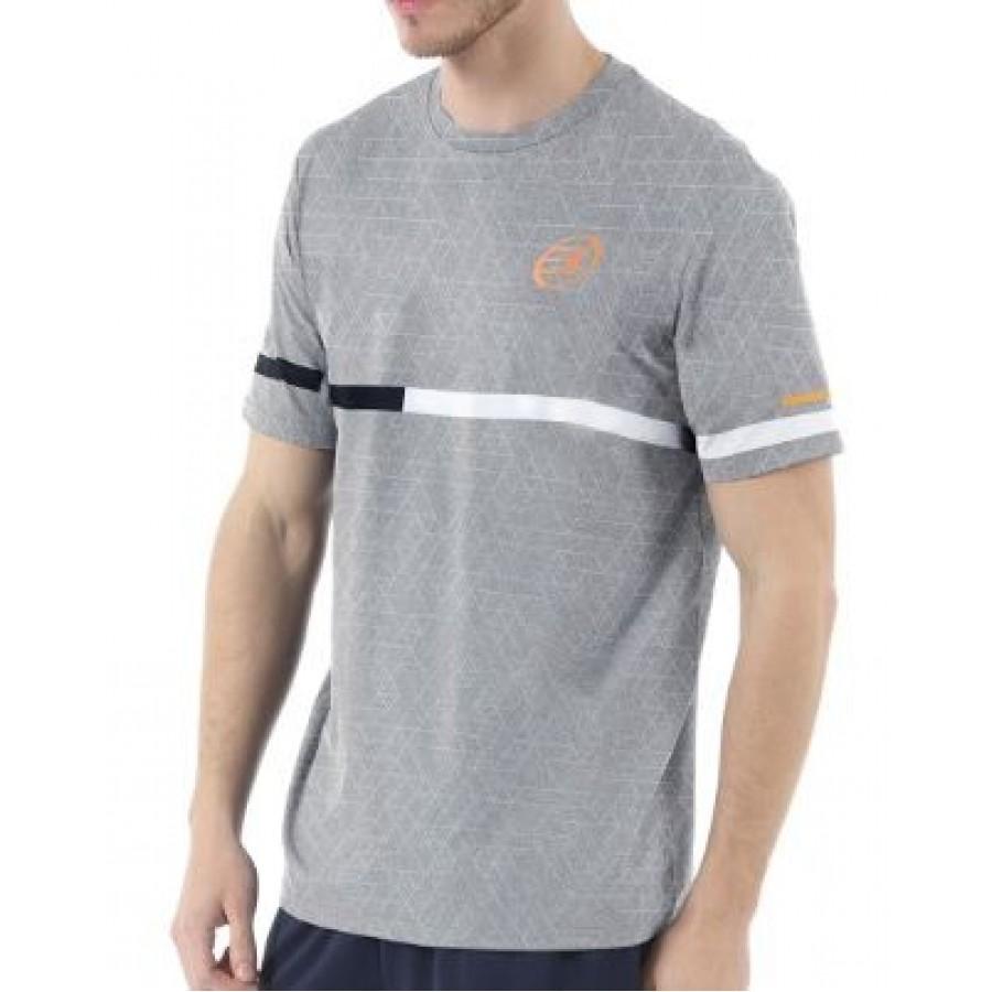 Camiseta Intria Gris Medio Estampado Bullpadel - Barata Oferta Outlet