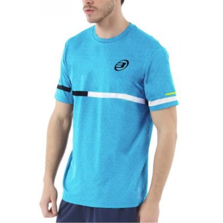 Camiseta Intria Turquesa Estampado Bullpadel - Barata Oferta Outlet