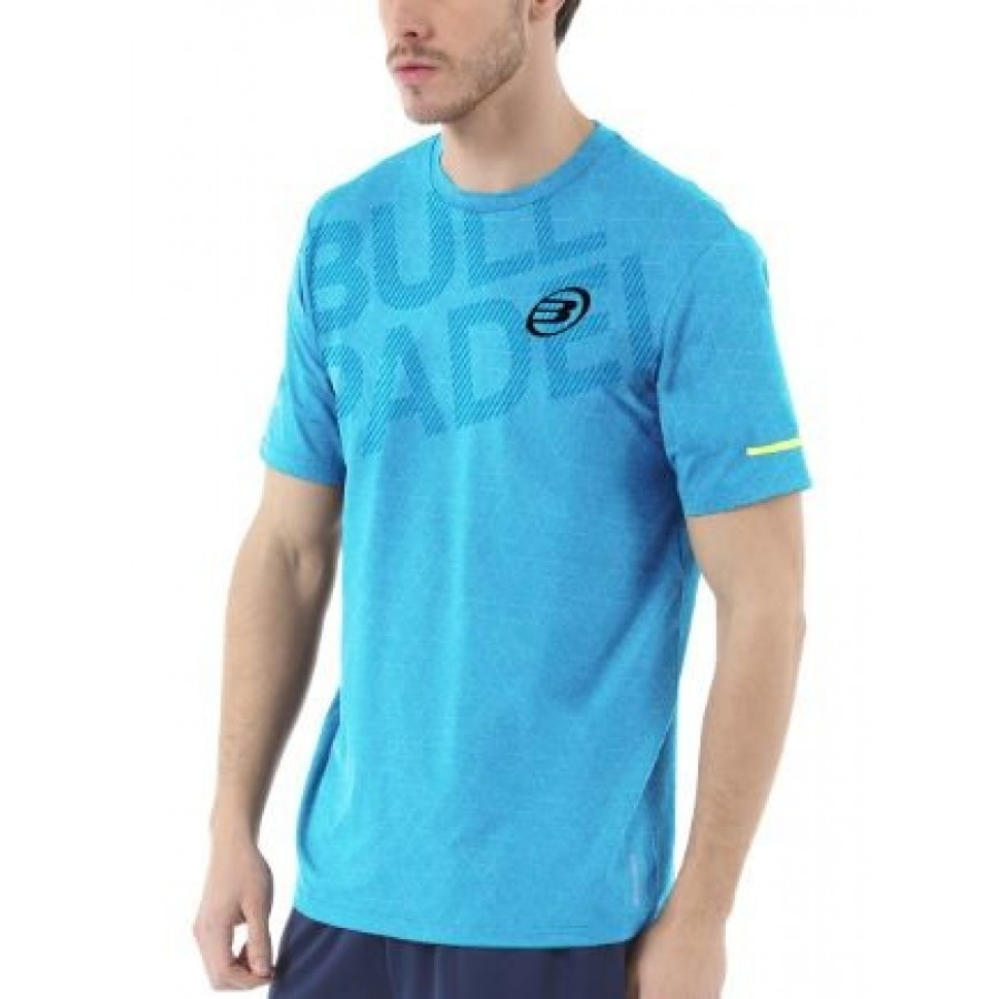 Camiseta Irate Turquesa Estampado Bullpadel - Barata Oferta Outlet