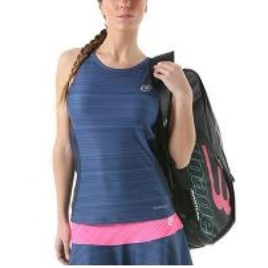 Camiseta Magiore Azul Oscuro Estampado Tirantes Bullpadel - Barata Oferta Outlet