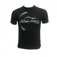 Camiseta PadelPoint Competicion Negro - Barata Oferta Outlet