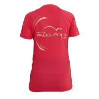 Camiseta PadelPoint Solanum Rosa Mujer - Barata Oferta Outlet