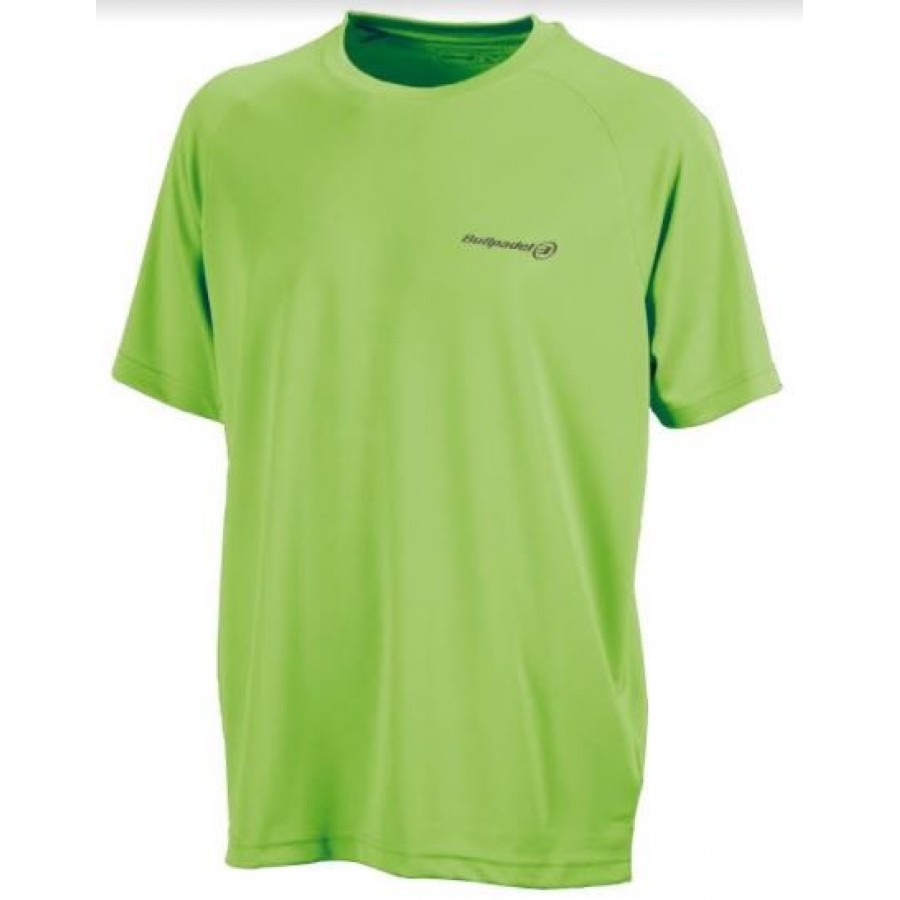 Camiseta Presente Verde Fluor Bullpadel - Barata Oferta Outlet