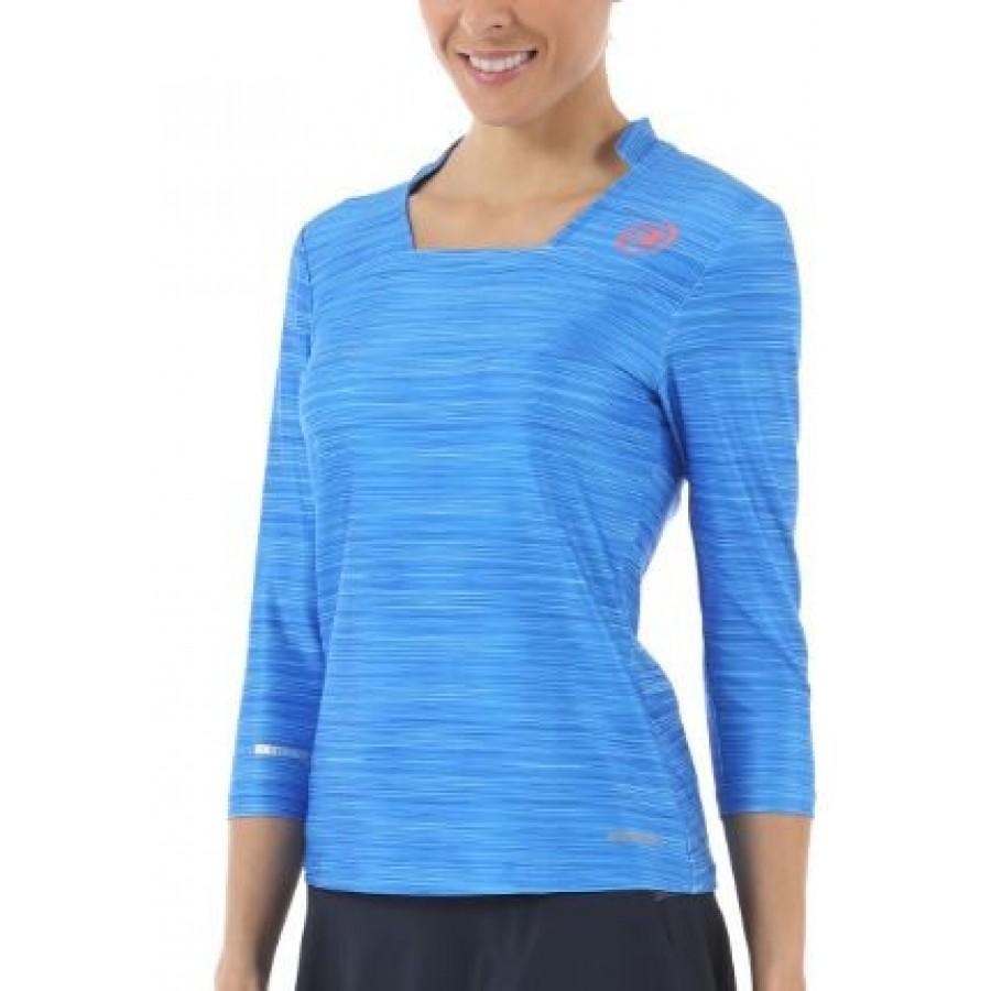 Camiseta Valbon Azul Lavado Estampado Bullpadel - Barata Oferta Outlet