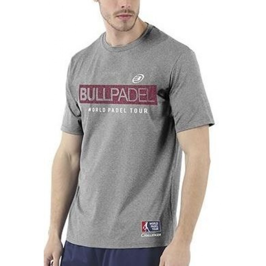 Camiseta Zamani Gris Medio Vigore Bullpadel - Barata Oferta Outlet