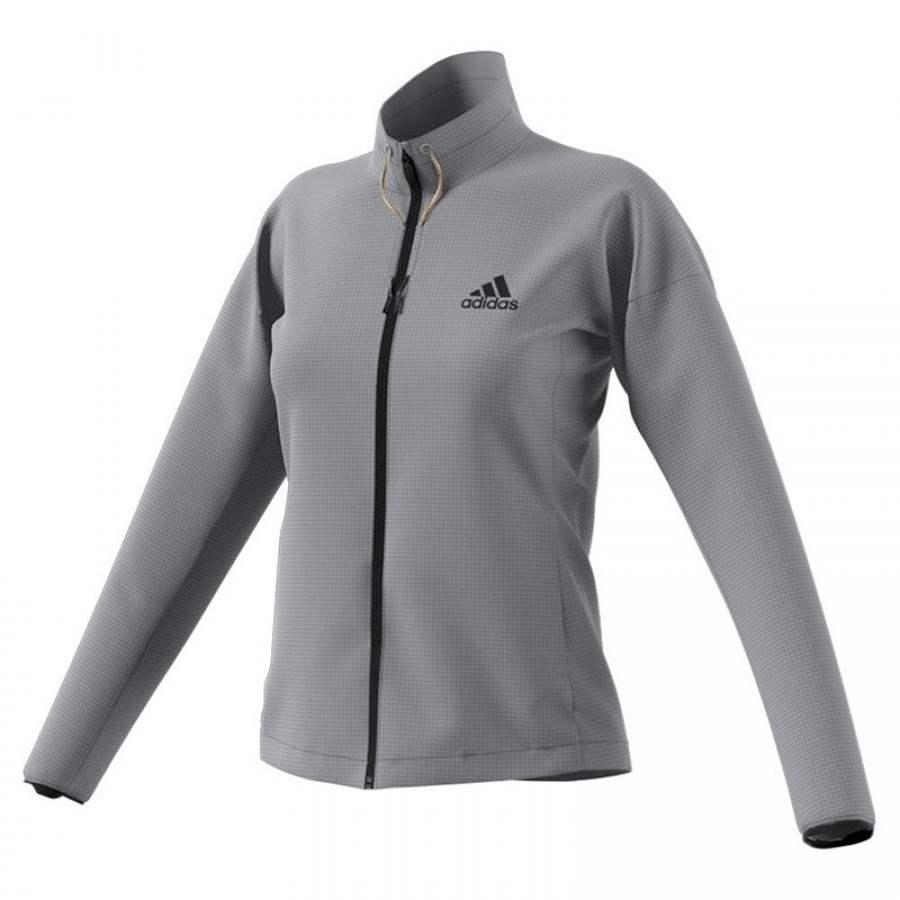 Chaqueta Adidas Q4 Three F17 Gris Mujer - Barata Oferta Outlet