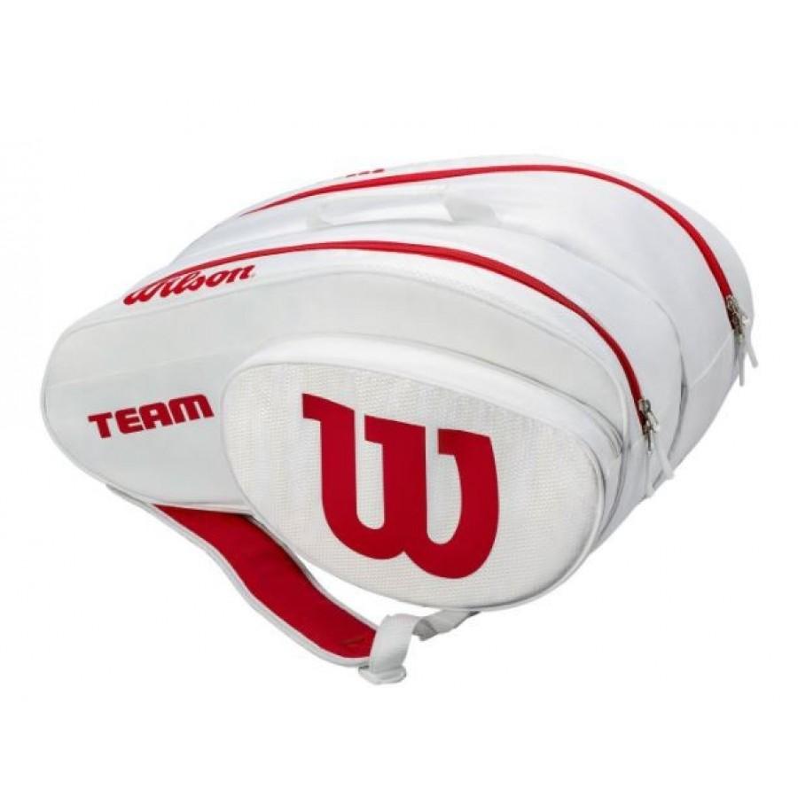 Paletero de Padel WILSON Padel Bag White Red - Barata Oferta Outlet