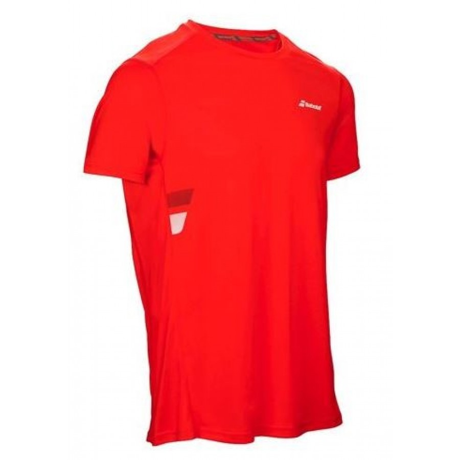 ROPA DE PADEL BABOLAT Camiseta Core Flag Club Tee Red - Barata Oferta Outlet