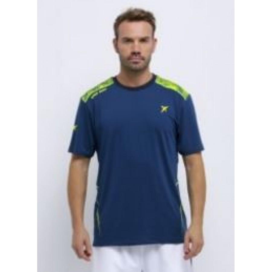PADDLE TENNIS DROP SHOT T-SHIRT BLEU FLINT VÊTEMENTS - Barata Oferta Outlet