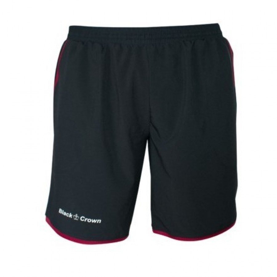 Short Black Crown Willy Negro Granate - Barata Oferta Outlet