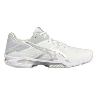 Zapatilla Padel ASICS GEL SOLUTION SPEED 3 CLAY White Silver - Barata Oferta Outlet