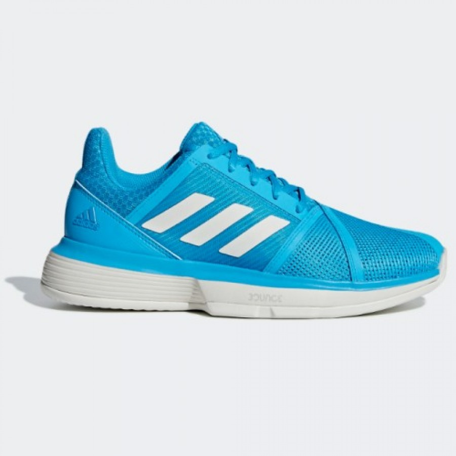 Zapatillas Adidas CourtJam Bounce Clay Azul Cyan Mujer - Barata Oferta Outlet