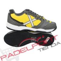 Pagaia di Monaco di Baviera blocco Padel grigio scarpe da tennis gialle - Barata Oferta Outlet